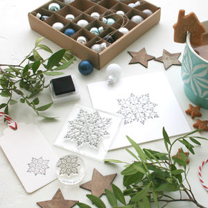 Mistletoe Snowflake Clear Stamp - shop by category