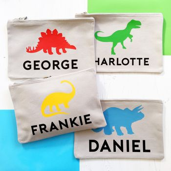Personalised Dinosaur Pouch