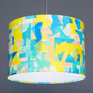 Flock Grapefruit Coast Fabric Lampshade - lamp bases & shades
