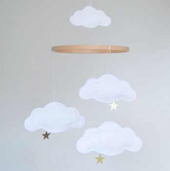 Personalised Cloud And Star Baby Mobile
