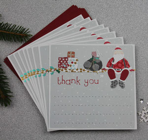 Thank You Christmas Card Eight Pack - winter sale