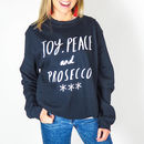 'Joy Peace, Prosecco' Christmas Jumper