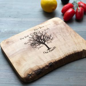 Personalised 'Family Tree' Engraved Board