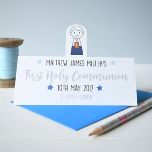 Personalised Boy's Holy Communion Or Confirmation Card