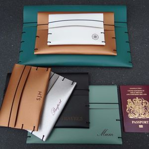 Leather Document Folder Wallet