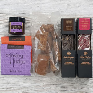 Chocoholics Fudge Hamper - gluten free food gifts