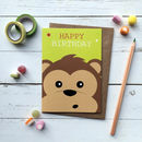 Cute Monkey Birthday Card