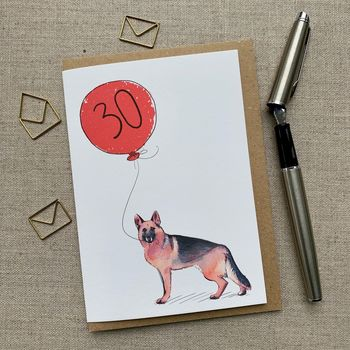 Personalised German Shepherd Birthday Card
