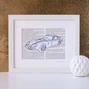 Personalised Favourite Car Embroidered Artwork