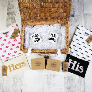 Mr And Mrs Luxury Wedding Fashion Hamper Gift Set - women's fashion