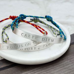 Men's Personalised Half Bangle - for your other half