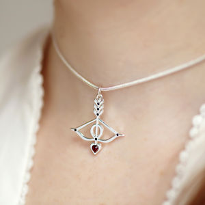 Heart And Arrow Choker Love Necklace - necklaces & pendants