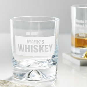 Personalised Whiskey Glass - personalised gifts for dads