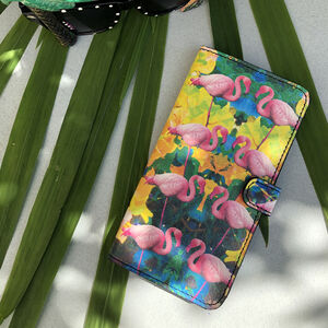 Flamingo Leather Smartphone Case