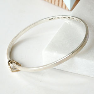 Personalised Mum And Baby Bangle
