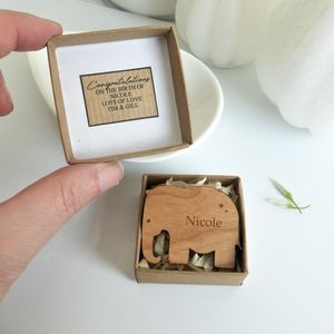Christening Gift Mini Elephant Keepsake