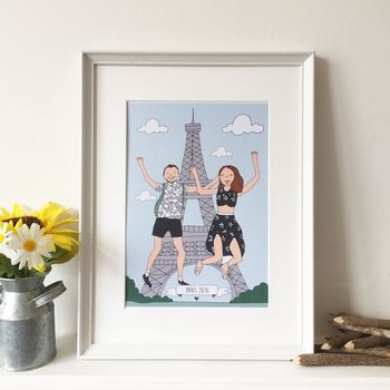 Personalised Couples Illustration Print