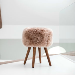 Sheepskin Stool - kitchen