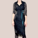 Black Lace Party Dress With Sleeves