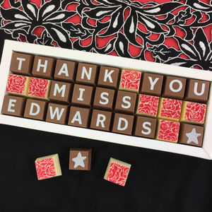 Thank You Teacher Gift Personalised Handmade Chocolates - card alternatives