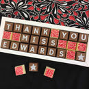Thank You Teacher Gift Personalised Handmade Chocolates