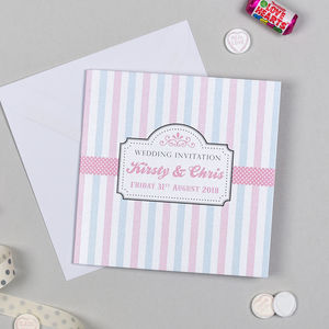 Candy Shop Wedding Invitation