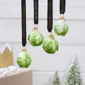 Personalised Brussels Sprout Vegeta Bauble - decorative accessories