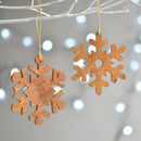 Wooden Cinnamon Snowflake Christmas Decoration