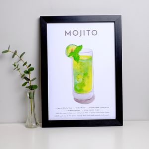 Cocktail Print Mojito - prints & art sale