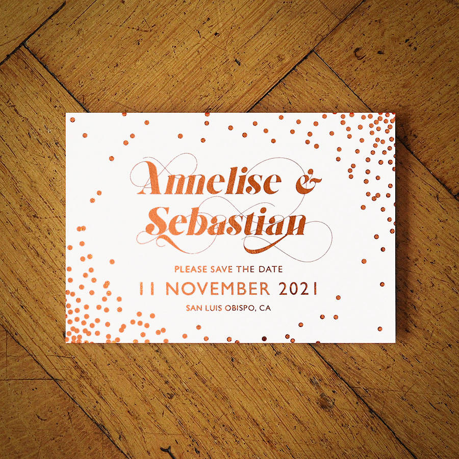 celestial rose gold foil wedding invitation - Rose Gold Wedding Invitations
