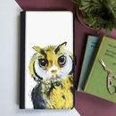 Inky Owl Flip Phone Case With Card Slots