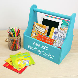 Personalised Kids Book Caddy - children's room