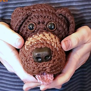 Personalised Crocheted 'Pet Head' Plush Clone