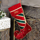 Personalised Velvet Jingle Bell Christmas Stockings