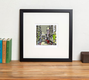 Manchester's Oxford Road Signed And Limited Print - maps & locations