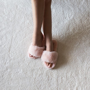 Sheepskin Spa Slipper - women's fashion