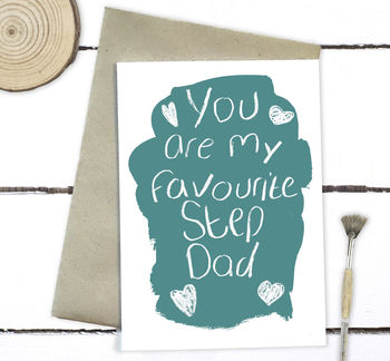 You Are My Favourite Step Dad Father's Day Card