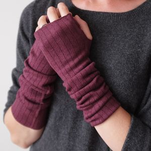 Cashmere Silk Wrist Warmers - keeping cosy