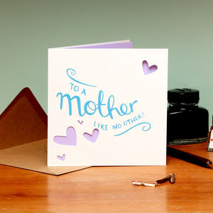 'To A Mother Like No Other' Card - winter sale