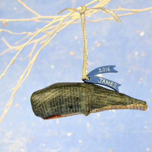 Personalised New Born Whale Decoration - decorative accessories