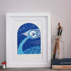 The Hare That Flew Original Art Screenprint