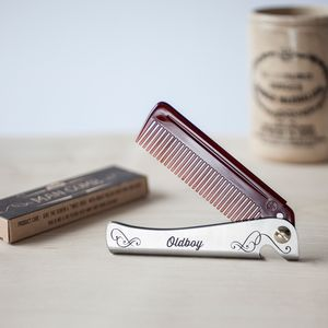 Personalised Man Comb - grooming gift sets