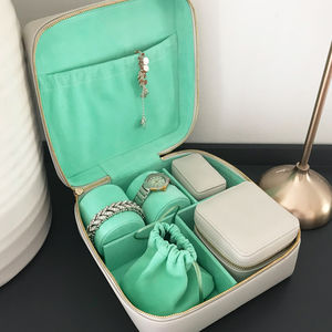 Large Luxury Leather Jewellery Case Gift Set