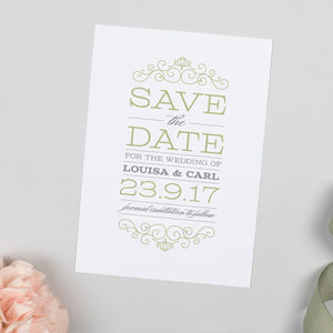 Eva Wedding Save The Date Cards
