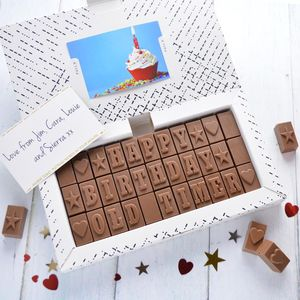 Personalised Chocolate Gift In A Large Box - gifts for him