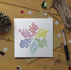 Personalised Liverpool Snowflake Christmas Scouse Card - cards & wrap