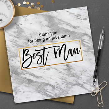 Contemporary Best Man Thank You Card