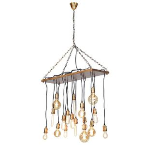 Filament Bulb Chandelier Ceiling Light - bedroom