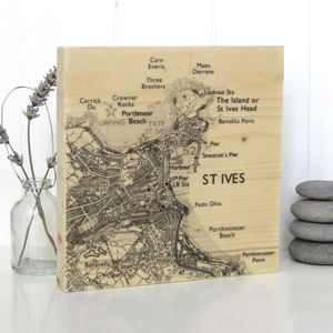 Personalised Map Timber Artwork - wedding gifts