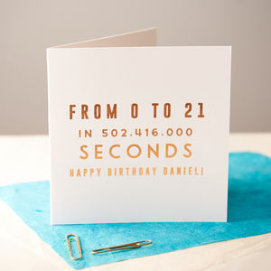 Personalised Copper Age Birthday Card - birthday cards